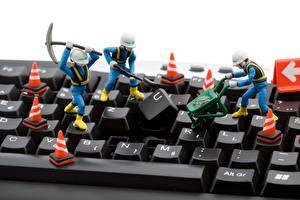 Картинки Клавиатура Вблизи Игрушка Компьютеры