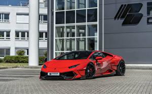 Картинки Ламборгини Красная Металлик 2018-19 Prior-Design PDLP610WB Widebody Aerodynamik-Kit авто