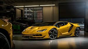 Обои Lamborghini Купе Желтых Centenario Автомобили