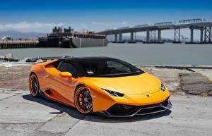 Фото Lamborghini Оранжевый VAG Performante Huracan авто