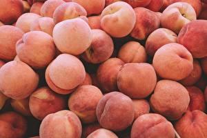 Фотографии Много Персики Продукты питания
