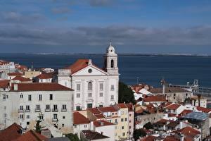 Фото Португалия Здания Церковь Alfama, Lisbon Города