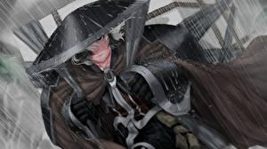 Фотография Дождь Шляпы Самурай Капля