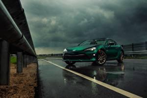 Фото Дождь Тойота Зеленых 86 Limited Hakone Edition Автомобили