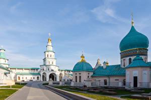 Фотографии Россия Москва Храм Монастырь New Jerusalem Monastery Istra Города