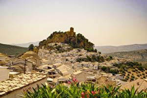 Картинки Испания Здания Скалы Montefrio