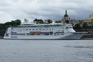 Фотографии Стокгольм Швеция Круизный лайнер Birka Cruises