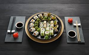 Картинки Суси Палочки для еды Тарелка Соевый соус