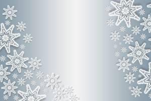 Фотографии Текстура Новый год Снежинки