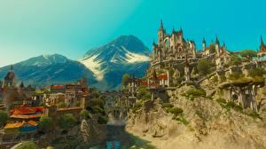 Картинки The Witcher 3: Wild Hunt Tussent компьютерная игра Города