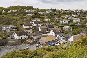 Обои Великобритания Дома Село Краши Cadgwith Cove Города