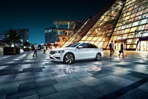 Обои Volkswagen Белая Металлик 2019 Sagitar 280 TSI авто