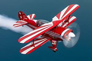 Фотография Самолеты Летящий Biplane, Pitts S-2B Авиация