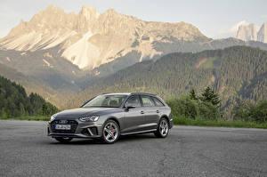 Обои Ауди Серый Металлик Универсал 2019 A4 Avant 40 TDI S line quattro Worldwide машины
