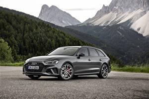 Обои Audi Серые Металлик 2019 S4 Avant TDI Worldwide Автомобили