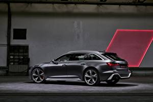 Фотографии Ауди Сбоку Универсал 2020 2019 V8 Twin-Turbo RS6 Avant Автомобили