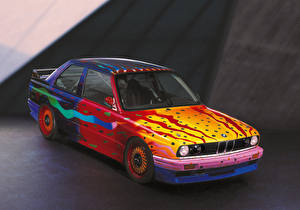 Обои БМВ Старинные Тюнинг 1989 M3 Group A Art Car by Ken Done авто