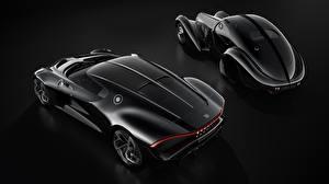 Фотографии BUGATTI Черные Черный фон La Voiture Noire автомобиль