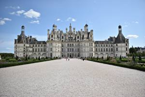 Фотография Замки Франция Дворца Музеи Château de Chambord of the Loire Valley Города
