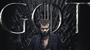 Картинки Игра престолов (телесериал) Мужчина Трон Johan Philip Asbæk, Euron Greyjoy