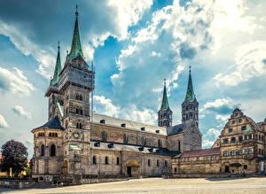 Фотографии Германия Храмы Церковь Городской площади Bamberg Города