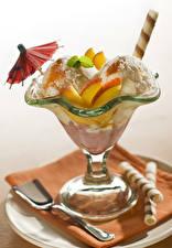 Обои Мороженое Фрукты Зонт Еда картинки