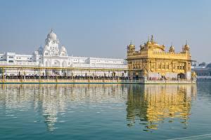 Обои Индия Храмы Золотой Amritsar, Punjab, Golden temple