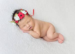 Фото Младенец Сон Венок ребёнок