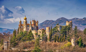 Фотография Италия Замки Крепость Rocchetta Mattei Castle Города
