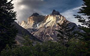 Картинки Горы Чили Patagonia, Torres del Paine Природа