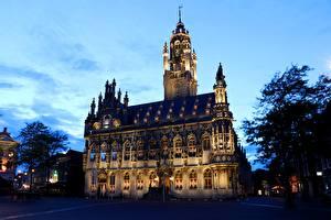 Картинка Голландия Дома Middelburg, Town Hall Города