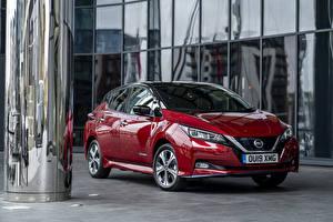 Фотографии Nissan Бордовая Металлик 2019 Leaf e авто