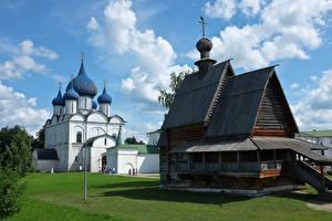 Фотографии Россия Храмы Церковь Из дерева Suzdal Vladimir Oblast город