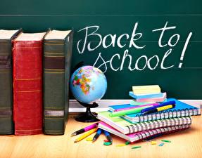 Картинки Школа Шариковая ручка Тетрадь Книги Инглийские Глобусы