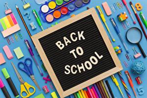 Фото Школьные Канцелярские товары Английская Карандаш Шариковая ручка Цветной фон