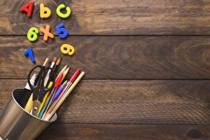 Фотографии Школьные Доски Карандаши Шариковая ручка