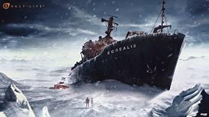 Фото Корабль Снег Фан АРТ half life 3 DMITRY KRINO Игры