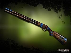 Обои Ружьё Вблизи Survarium mp-133 12 Игры