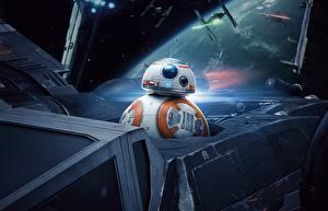 Обои для рабочего стола Звёздные войны: Последние джедаи Робот BB8 Фильмы
