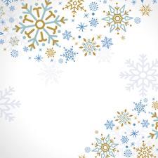 Обои Текстура Снежинка Белый фон