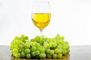 Обои Вино Виноград Бокал Пища