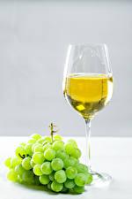 Картинка Вино Виноград Бокал Пища