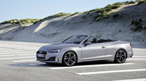 Обои Ауди Серебряный Кабриолета Паркинг 2019 A5 40 TFSI Worldwide авто