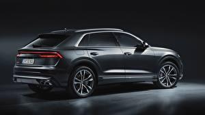 Обои Audi Серый sq8 2020 авто