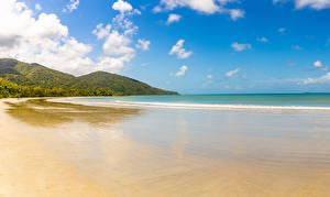 Обои Австралия Берег Волны Холм Природа
