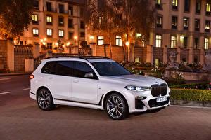 Фотография BMW Белые Металлик 2019 X7 M50d машины