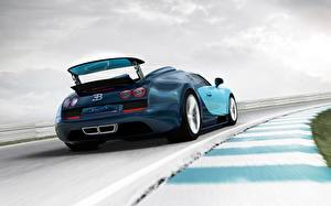 Картинка BUGATTI Вид сзади Скорость Родстер Veyron Grand Sport Vitesse машина