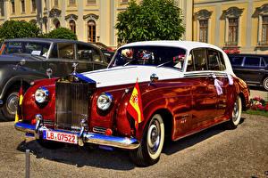 Обои для рабочего стола Bentley Ретро Красные 1954 S1 Автомобили