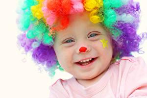 Картинка Мальчишка Клоуны Улыбка Милые Лица ребёнок
