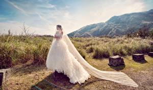 Обои Невеста Платье Девушки картинки